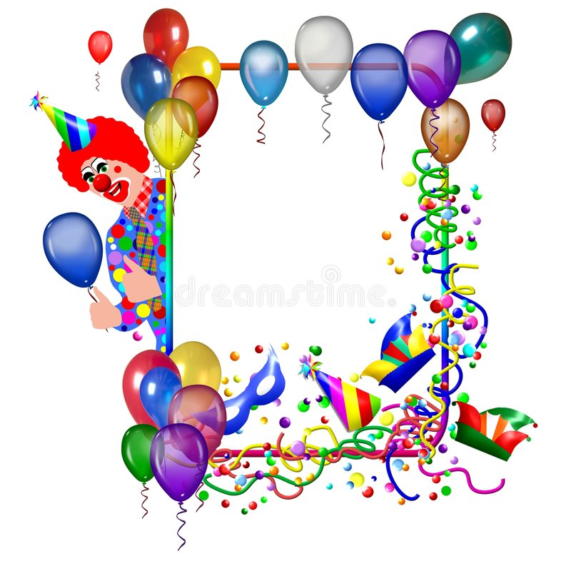 Marco del cumpleaños stock de ilustración