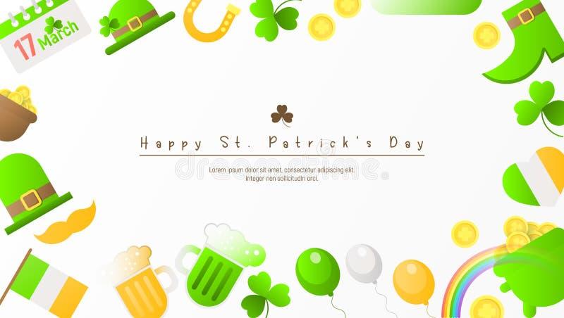 Marco del día de Patricks stock de ilustración
