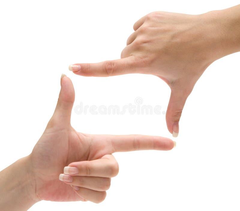 Marco del dedo imagenes de archivo