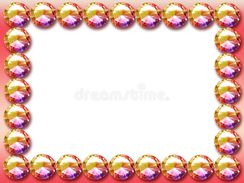Marco del diamante stock de ilustración. Ilustración de pink - 13137312