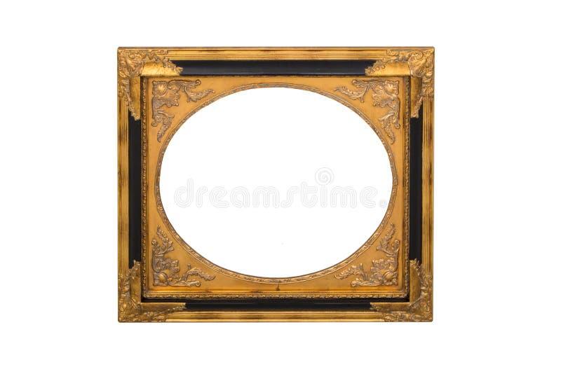 Marco del espejo aislado en blanco fotos de archivo