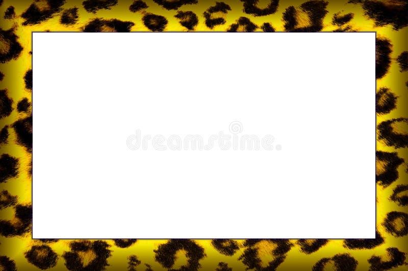 Marco del estampado leopardo ilustración del vector
