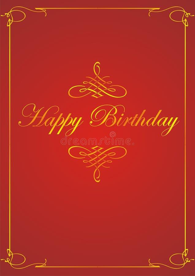 Marco del feliz cumpleaños stock de ilustración
