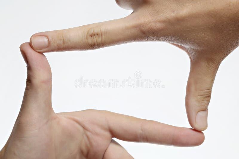 Marco del finger imagen de archivo