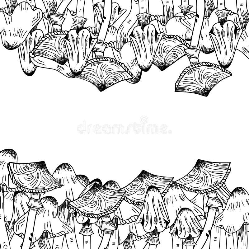 Marco del finger del Linework ilustración del vector