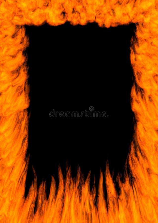 Marco del fuego ilustración del vector