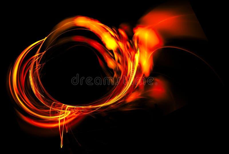 Marco del fuego en un fondo negro stock de ilustración