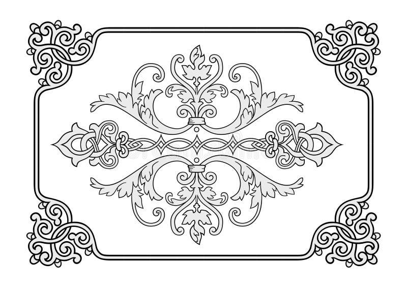 Marco del grabado ilustración del vector