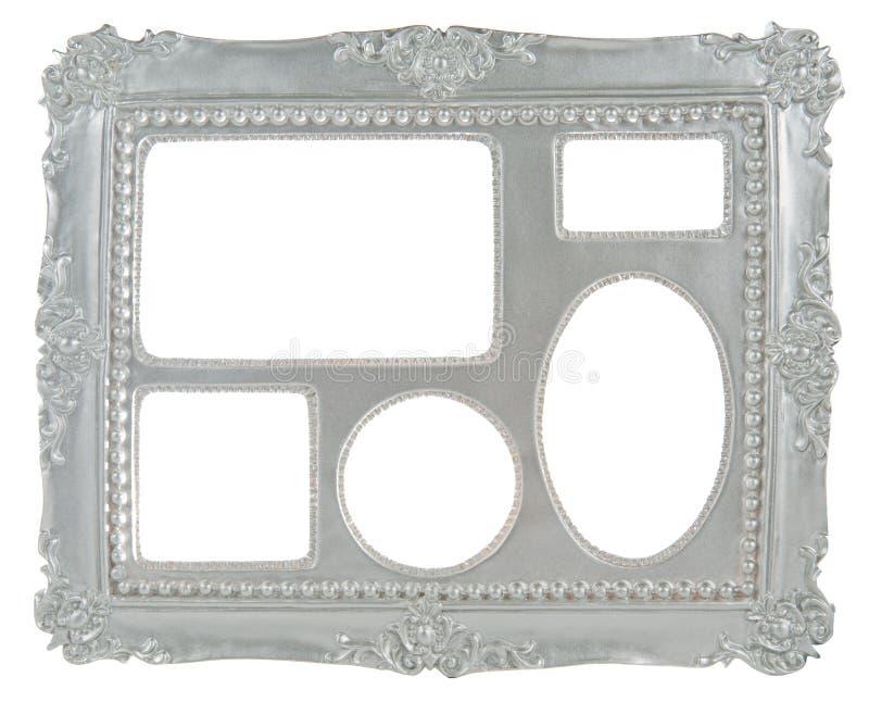 marco del gris de plata 5 in-1 fotografía de archivo