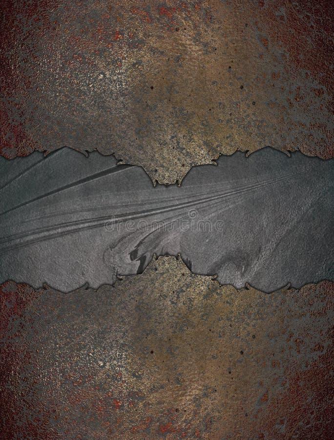Marco del Grunge con un negro mediados de Plantilla para el diseño copie el espacio para el folleto del anuncio o la invitación d ilustración del vector