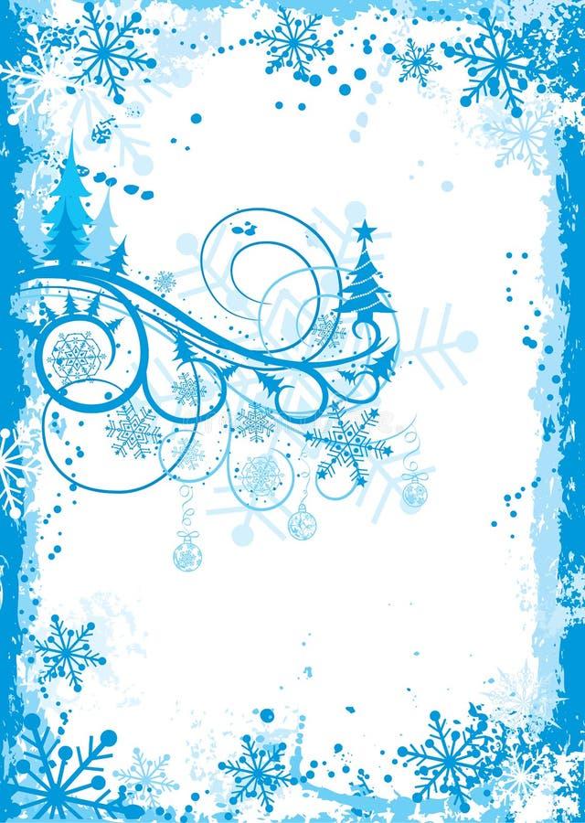 Marco del grunge de la Navidad, vector libre illustration