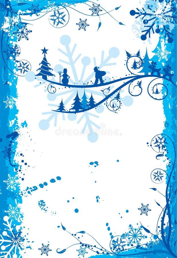 Marco del grunge de la Navidad, vector ilustración del vector