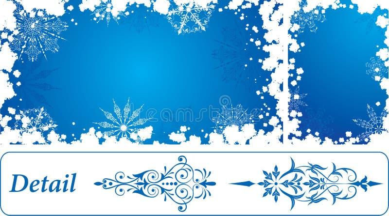 Marco del grunge del copo de nieve, elementos para el diseño, vector libre illustration