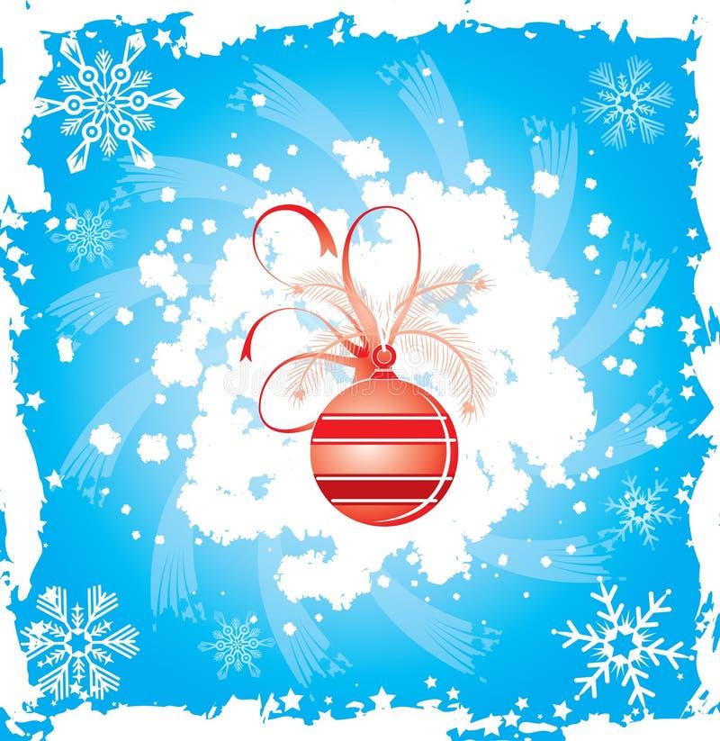 Marco del grunge del copo de nieve, elementos para el diseño, vector stock de ilustración