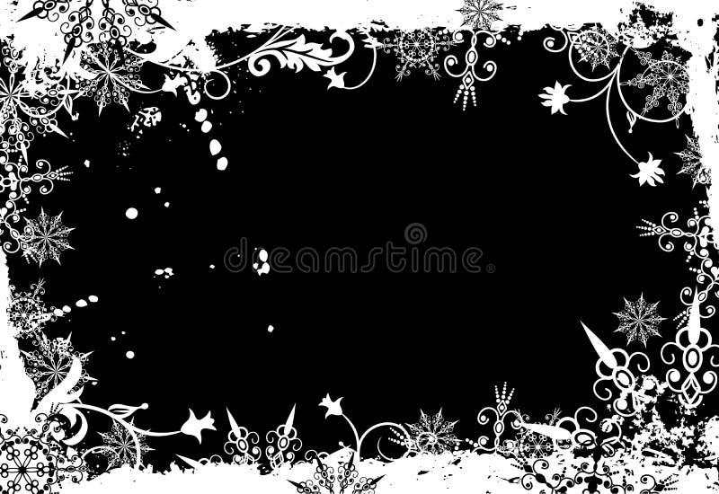 Marco del grunge del invierno,   ilustración del vector
