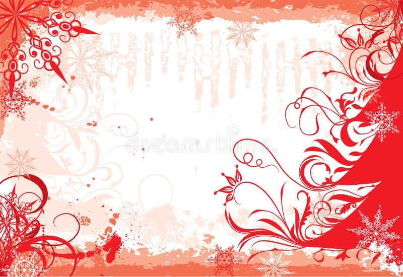 Marco del grunge del invierno, vector stock de ilustración