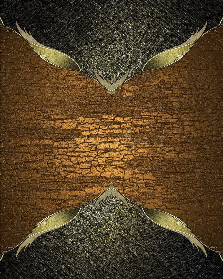 Marco del Grunge en el fondo blanco en fondo de madera Plantilla para el diseño libre illustration