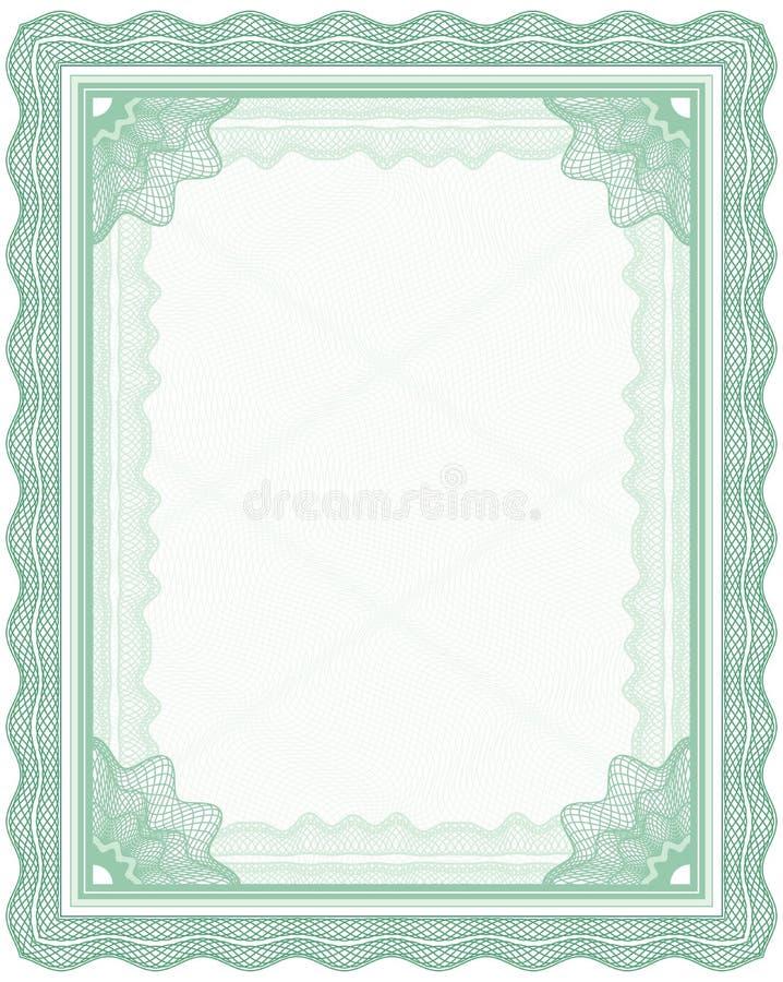 Marco del guilloquis stock de ilustración