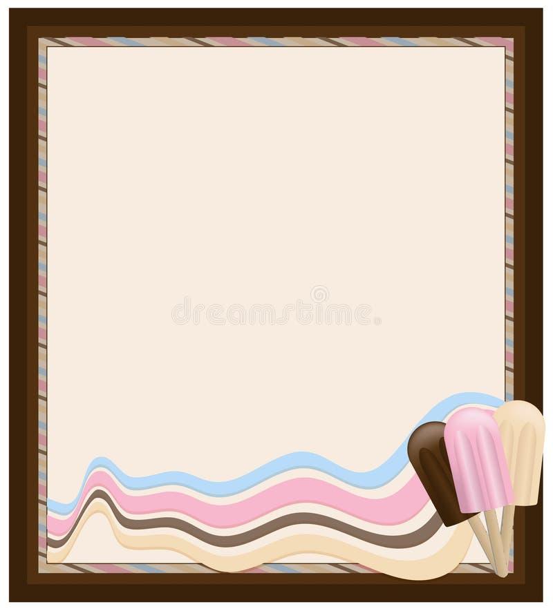 Marco del helado ilustración del vector. Ilustración de pink - 6529714