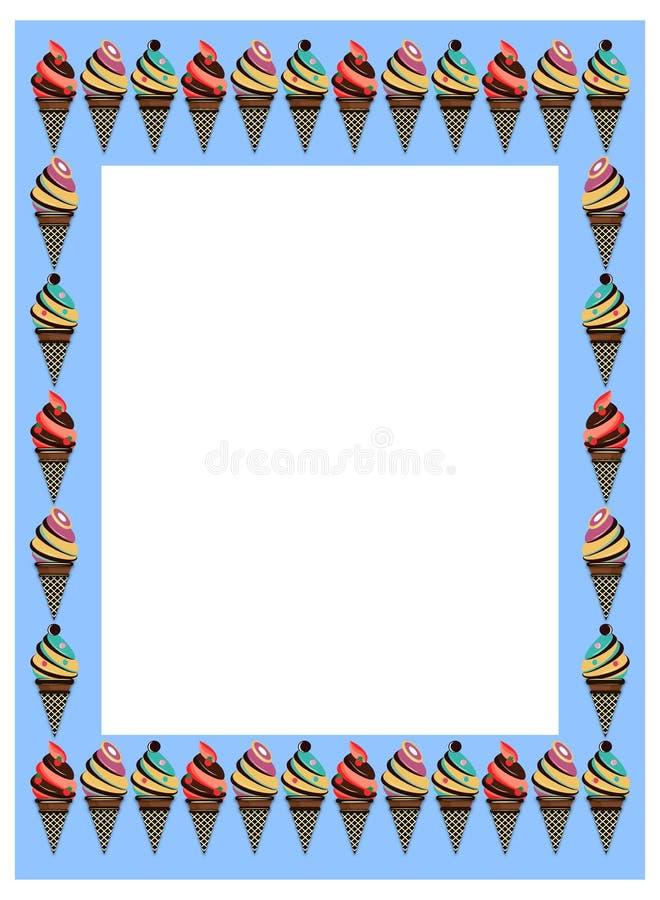 Marco del helado ilustración del vector. Ilustración de marco - 80836248