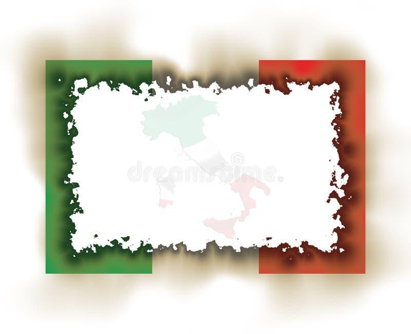 Marco del indicador de Italia quemado ilustración del vector