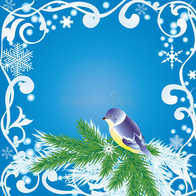 Marco del invierno libre illustration