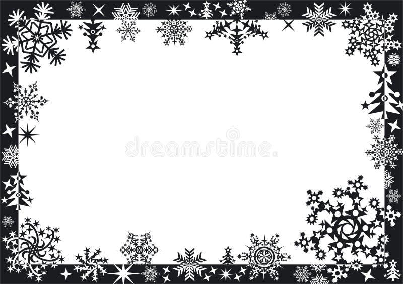 Marco del invierno con los copos de nieve libre illustration