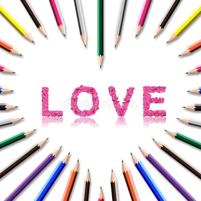 Marco del lápiz del color imagen de archivo libre de regalías