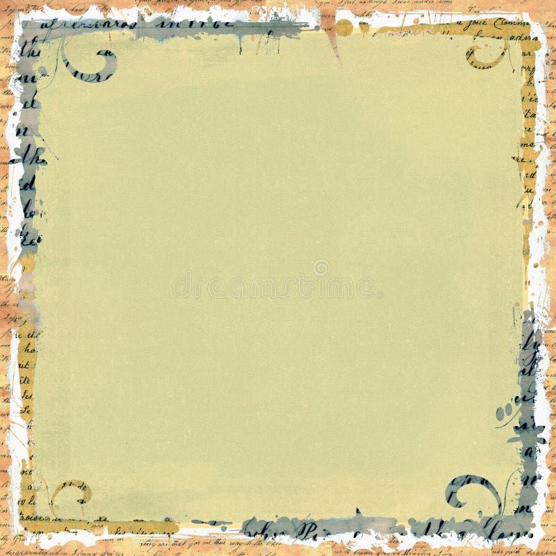Marco del libro de recuerdos stock de ilustración