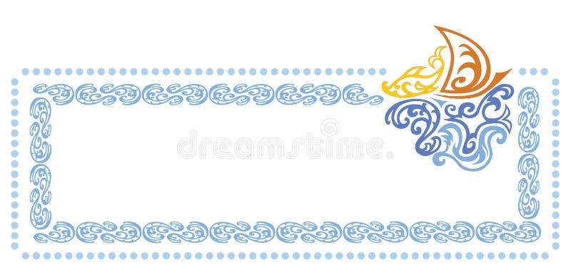Marco del mar stock de ilustración