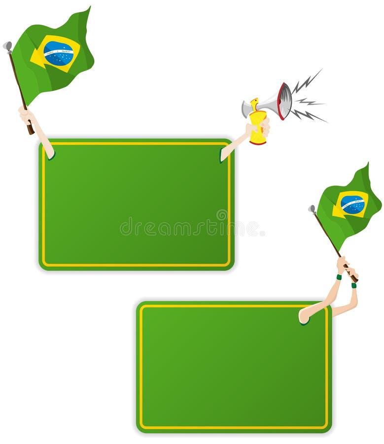Marco del mensaje del deporte del Brasil con el indicador. libre illustration