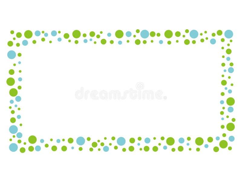 Marco del mensaje del mosaico con el modelo de punto azul y verde libre illustration
