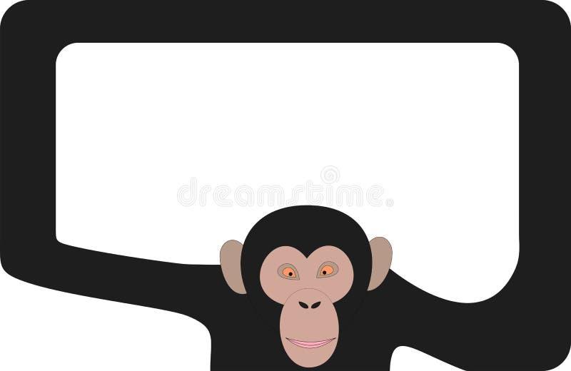 Marco del mono stock de ilustración