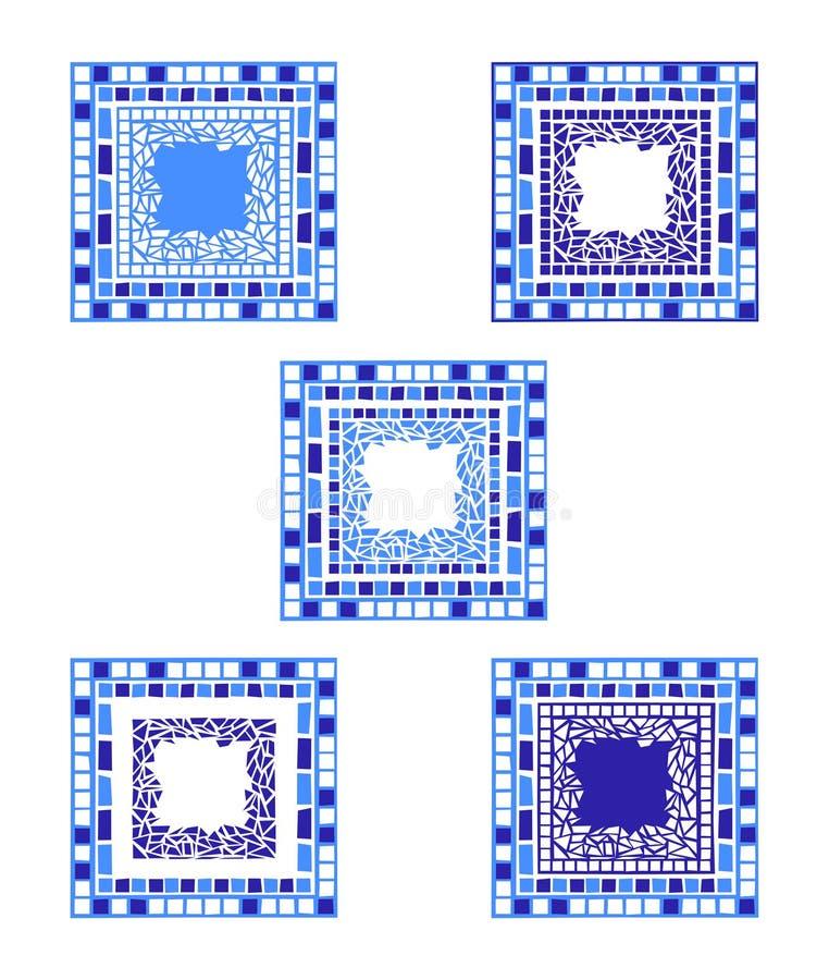 Marco del mosaico stock de ilustración
