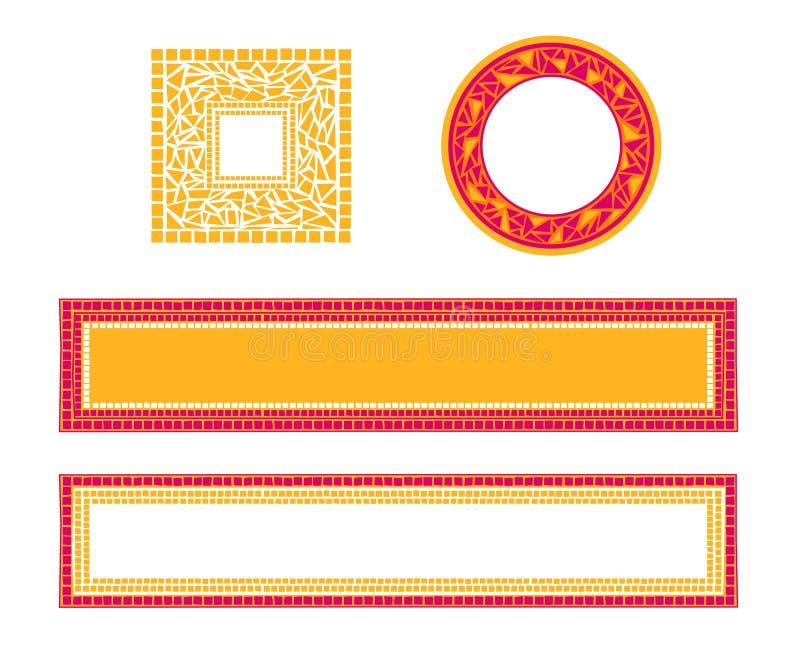 Marco del mosaico ilustración del vector
