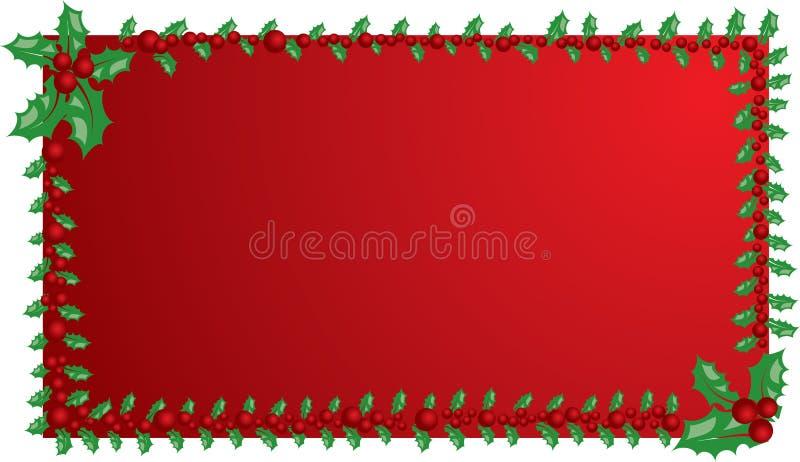 Marco del muérdago de la Navidad, elementos para el diseño, vector stock de ilustración