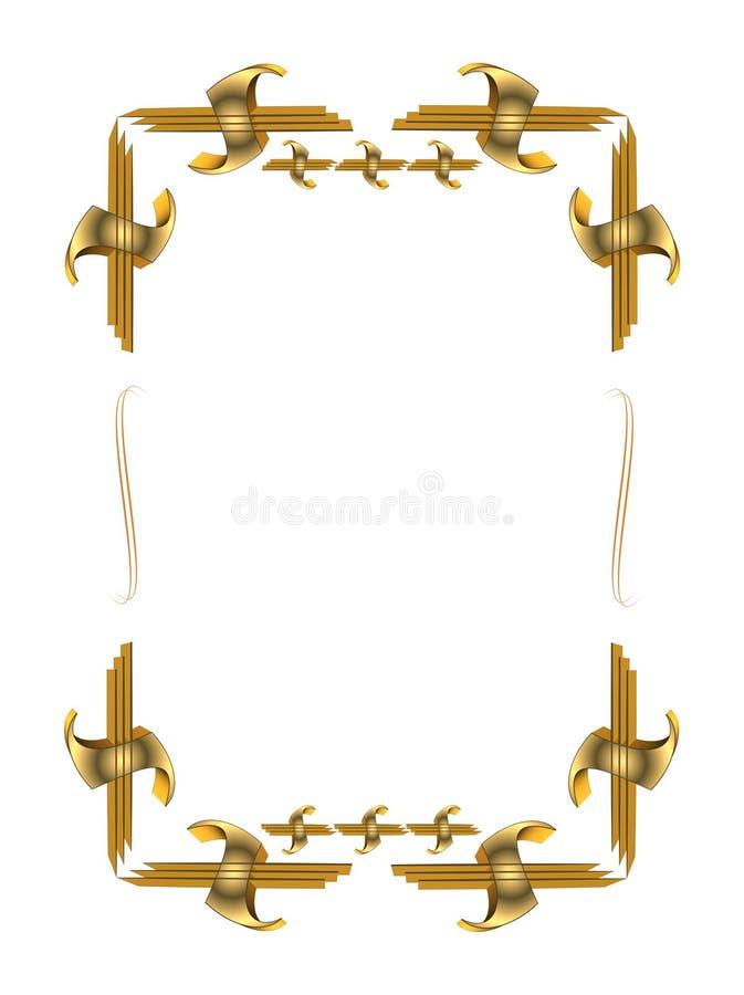 Marco del oro 3d stock de ilustración. Ilustración de exposición ...