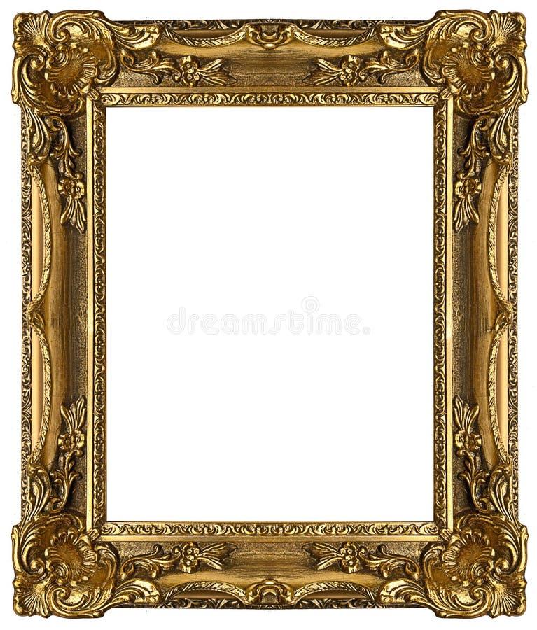 Marco del oro imagen de archivo libre de regalías