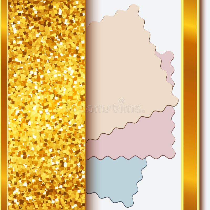 Marco del oro con las fronteras de oro brillantes libre illustration