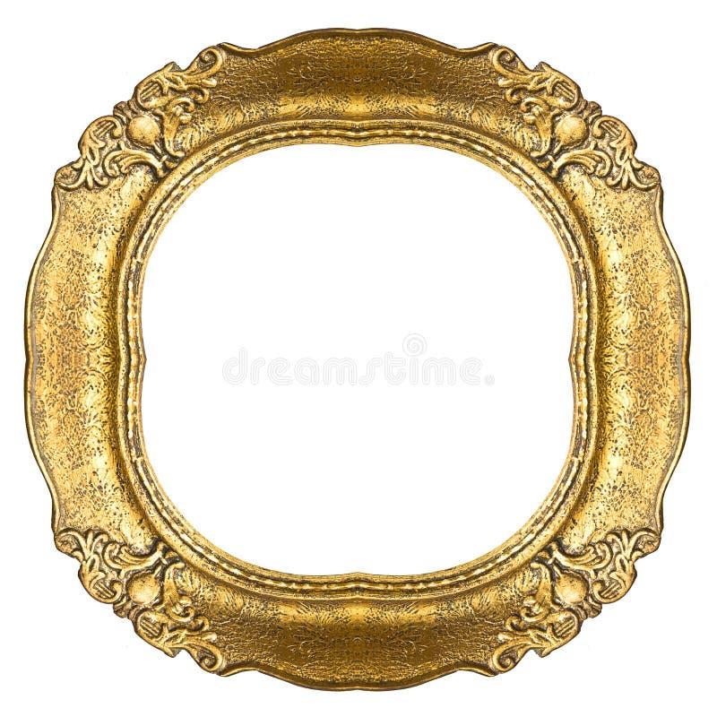 Marco del oro viejo - óvalo fotos de archivo libres de regalías