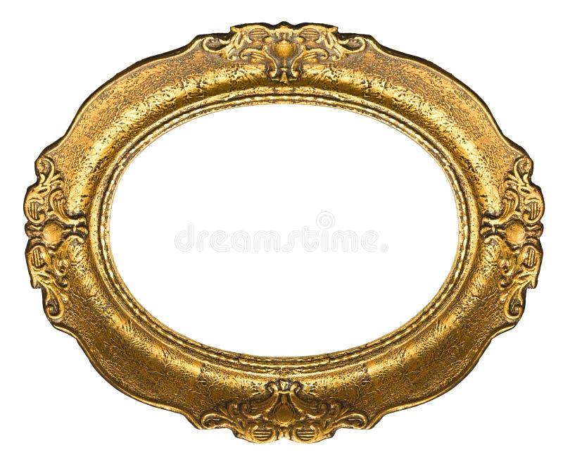 Marco del oro viejo - óvalo imágenes de archivo libres de regalías