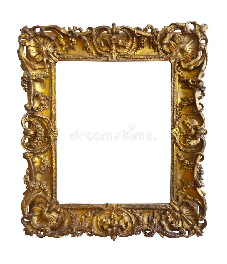 Marco del oro viejo fotografía de archivo