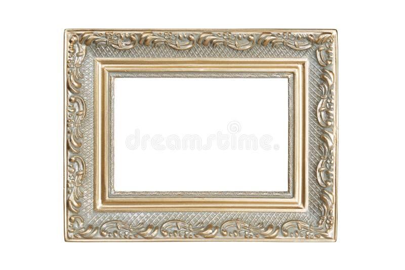 marco del Plata-oro imagen de archivo