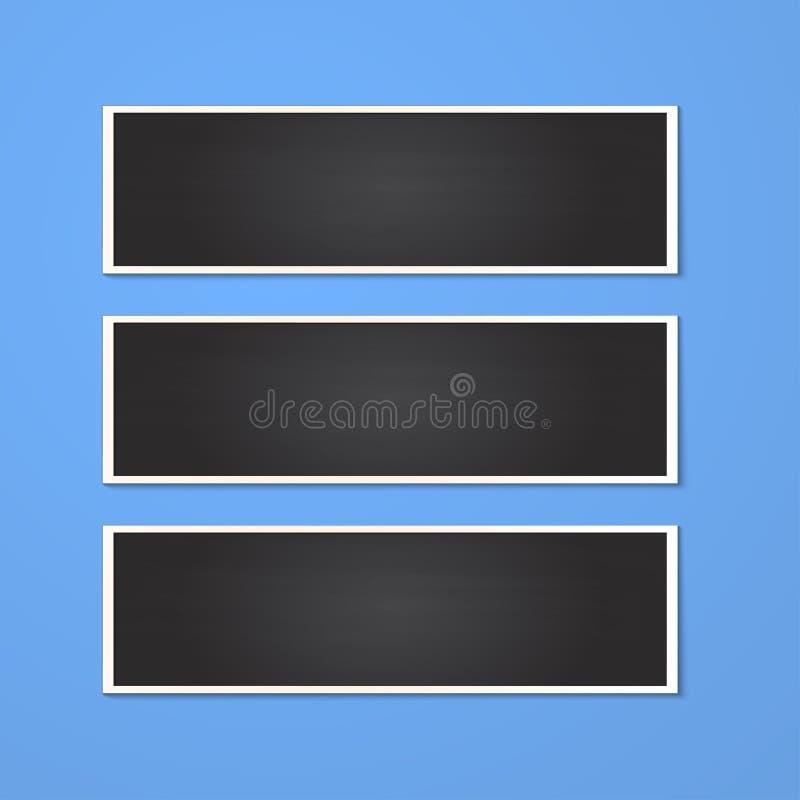 Marco del rectángulo aislado en azul fotos de archivo libres de regalías