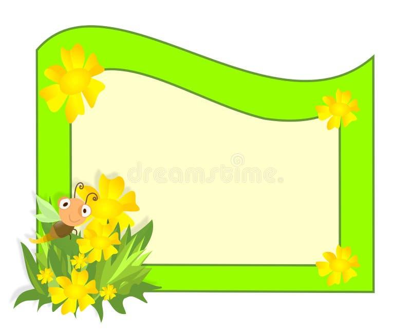 Marco del resorte ilustración del vector. Ilustración de marco ...