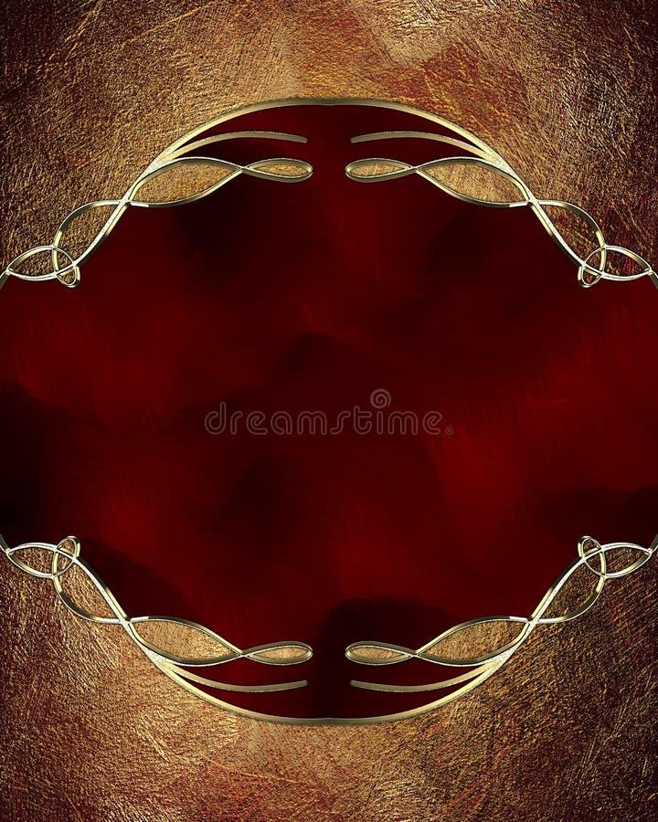 Marco del rojo de Grunge Elemento para el diseño Plantilla para el diseño copie el espacio para el folleto o la invitación del av libre illustration