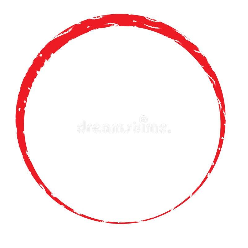 Marco del sello del círculo en el fondo blanco ilustración del vector