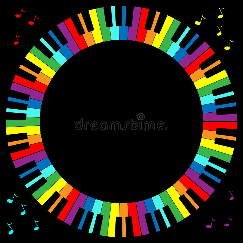 Marco del teclado de piano stock de ilustración