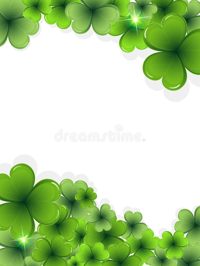 Marco del trébol del día del St. Patricks libre illustration