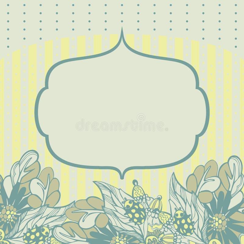Download Marco Del Vector Con Las Flores Ilustración del Vector - Ilustración de garland, ornamento: 41905445